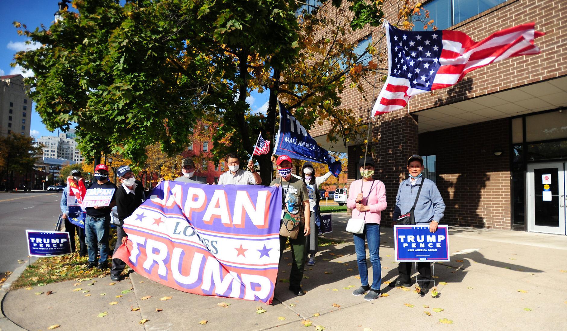 Dokonce i v Japonsku demonstrovali za Trumpa (video)