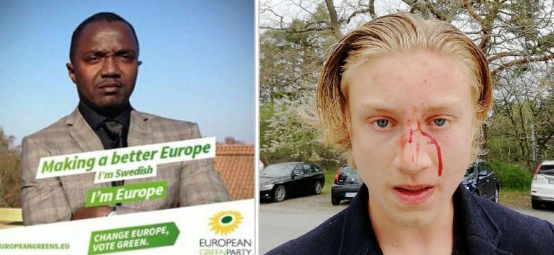 Černý člen strany Zelených zbil švédského studenta