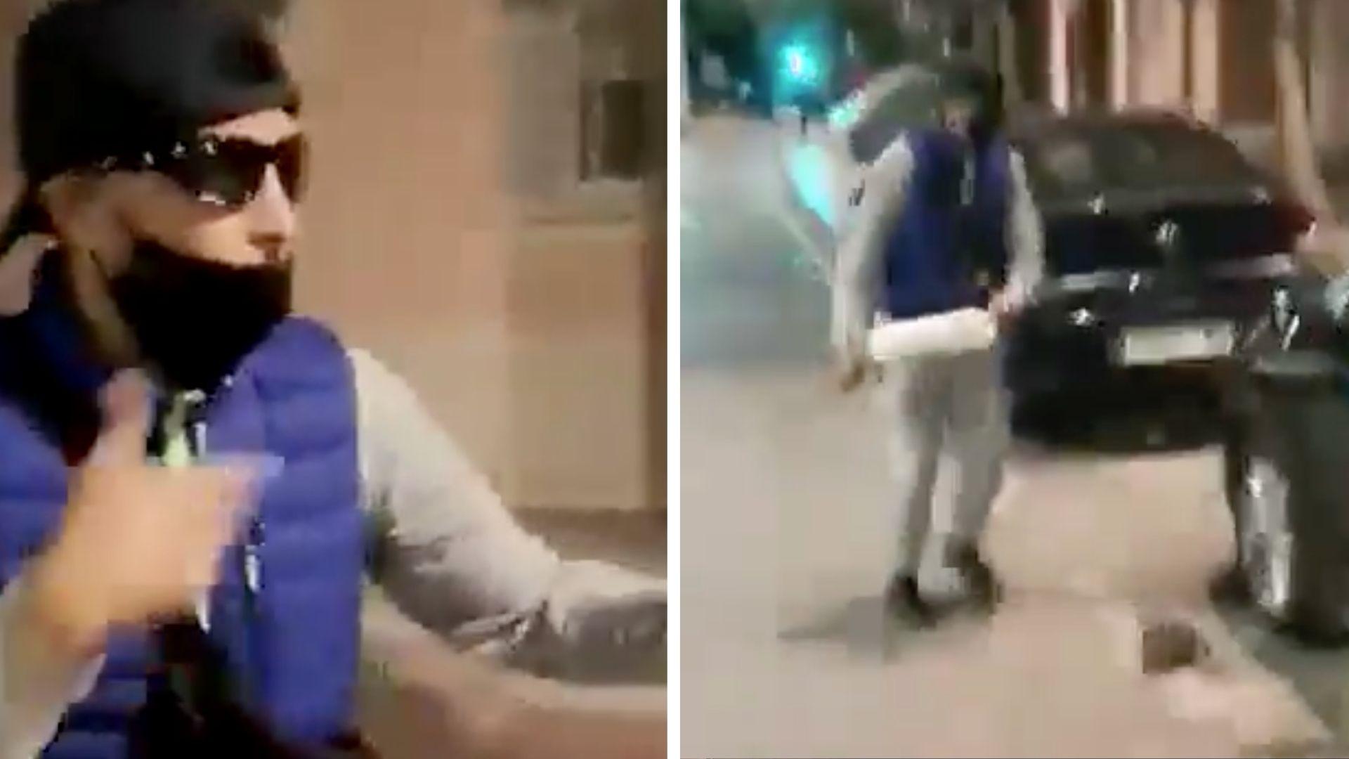 Španělsko: Marocký vetřelec rozkopal ženě auto, protože mu odmítla dát peníze (video)