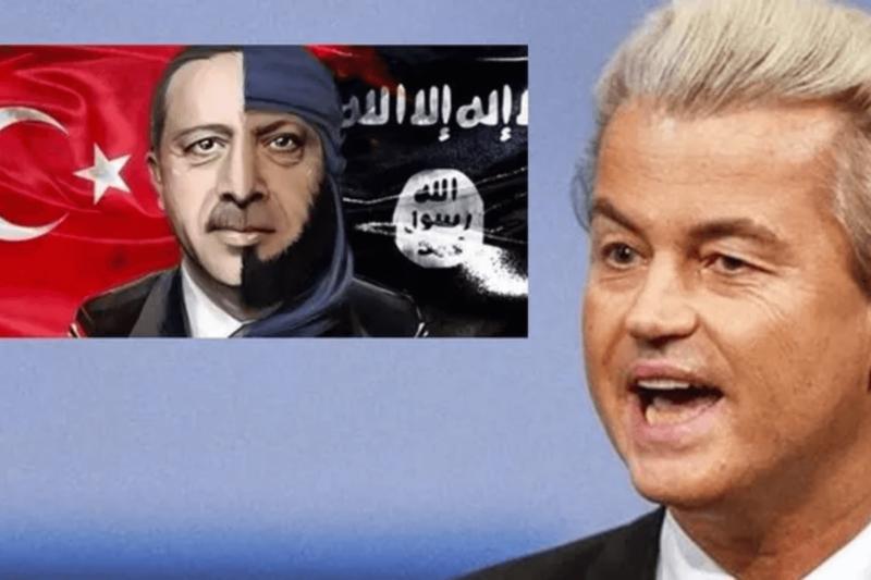 Erdogan podal trestní oznámení na Geerta Wilderse