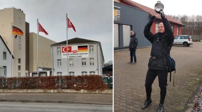 Němec už od června každý pátek narušuje halekání z mešity