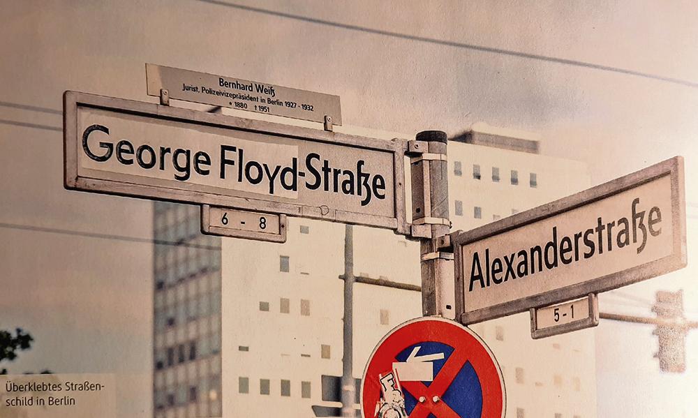 Němci navrhují přejmenovat ulici, nesoucí název podle oběti nacismu, jménem   Floyda