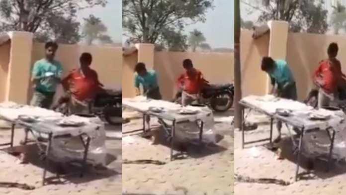 Přistihli dalšího muslima, plivajícího nemuslimům do jídla (video)