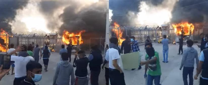 """""""Allahu akbar!"""" Další vzpoura vetřelců v řeckém táboře (videa)"""