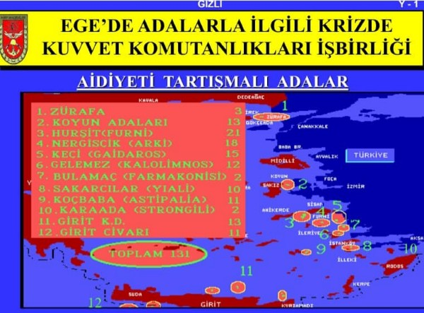Řecko odhalilo tajné plány Turecka na obsazení 131 řeckých ostrovů