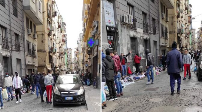 Zatímco Italové musí mít uzavřené obchody, afričtí vetřelci prodávají na ulicích kradené zboží