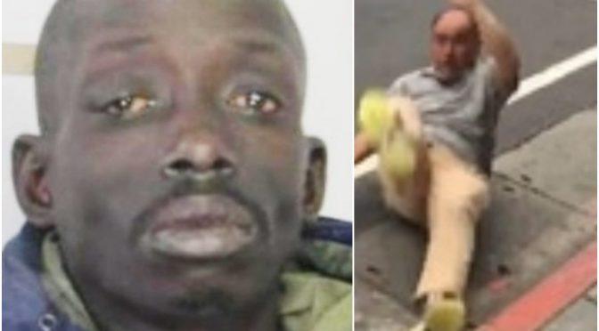 Nigerijec na ulici napadl a brutálně zbil Itala, potom šel s nožem i na policisty
