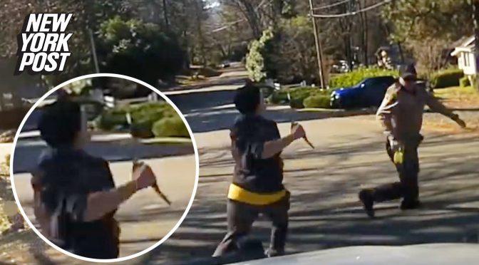 """V USA zastřelil policista ženu, která jeho kolegu honila s nožem v ruce a křičela """"""""Allahu akbar!"""" (video)"""