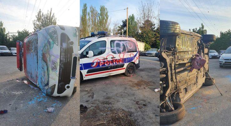 Francie: Další útok na policii – tentokrát to odnesla auta, o jedno byla opřena prasečí hlava