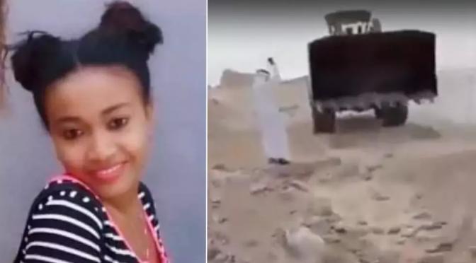 Jak se jedná s křesťany v Saúdské Arábii? Jejich mrtvoly se zahrnují buldozerem do písku..(video).