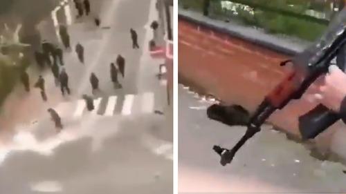 Jeden mrtvý při pouličních bojích mezi Kurdy a Čečenci v Belgii (video)