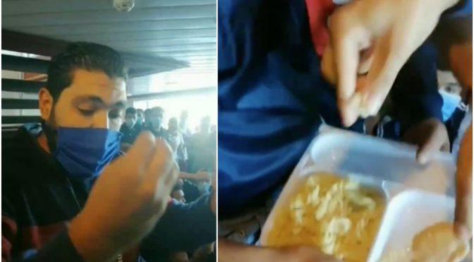 Podívejte se, jak vetřelci na Lampeduse vyhazují jídlo do odpadků (video)