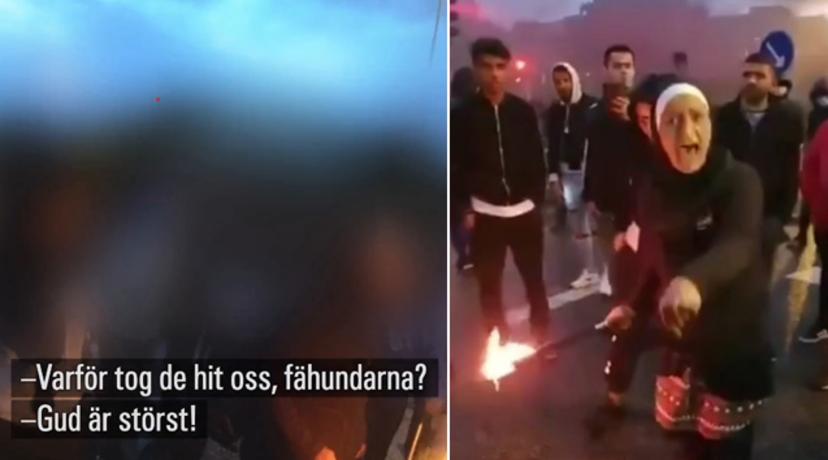 """Muslimka, která při nepokojích v Malmö křičela: """"Proč jste nás sem přivedli, když nechcete islám"""", stanula před soudem"""