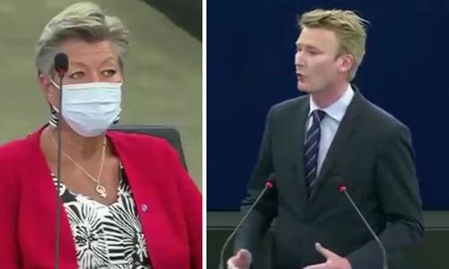 Dánský europoslanec řekl švédské eurokomisařce pro migraci Johanssonové, že se zbláznila