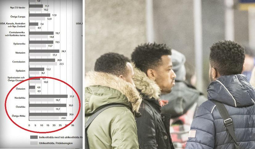 Každý třetí Afričan narozený ve Švédsku je podezřelý z trestné činnosti