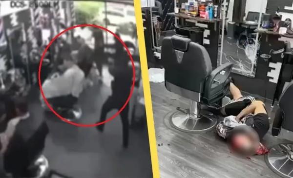 Švédsko: Podívejte se, jak vtrhne do holičství plného lidí muslimský gang a popraví konkurenta (video)