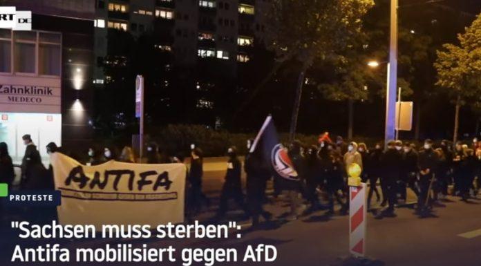"Antifa vyšla do ulic proti AfD: ""Sasko musí zemřít!"" (video)"