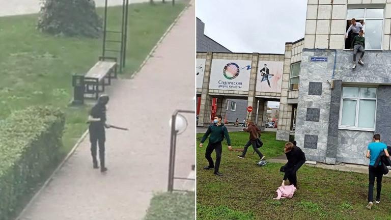 Šokující záběry z útoku na ruské univerzitě v Permu, který si zatím vyžádal osm mrtvých (videa)