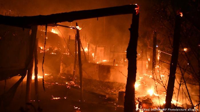 Hořel další migrační tábor v Řecku