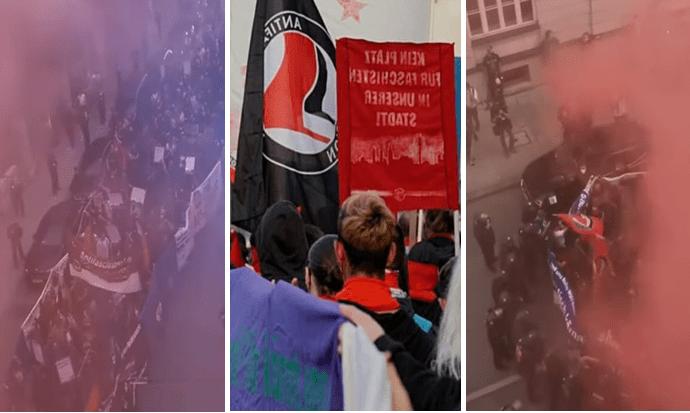Extremisté z Antify v Německu násilně útočí na opozici, to vše s podporou vlády (video)