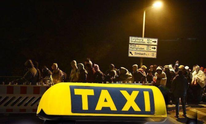 Po celém Rakousku rozváží ilegály nejen autobusy, ale také taxíky