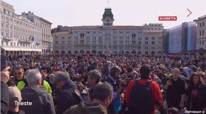 Protesty a blokády v Itálii dnes pokračují už 6. den, násilí fašistické vlády se stupňuje, v sobotu vyrazí do ulic miliony lidí (videa)