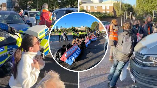 Velká Británie: Ekošílenci nadále pokračují v blokování dopravy, odmítli pustit i sanitku