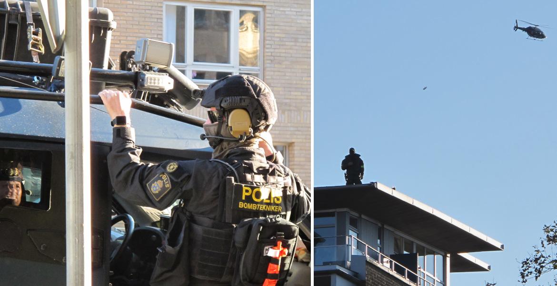 Obrněná vozidla, ostřelovači a vojenské vrtulníky – nevídaná bezpečnostní opatření dnes ovládla islamizované Malmö