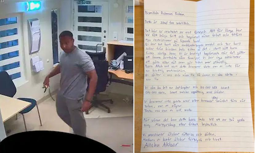 Švédsko: Dva muslimští vězni zajali dva strážné, požadovali vrtulník a peníze, nakonec dostali jen kebab pizzu